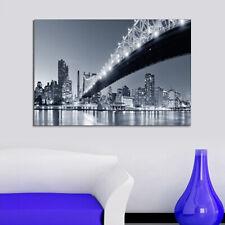 Leinwand Keilrahmenbild Kunstdruck Wandbild Canvas New York Q. Bridge 50x70 cm