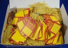1000 Qty. Sale Price Strung Merchandise Tags #5 Retail Store Supplies