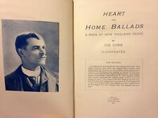 Heart and Home Ballads A Book of New England Verse by Joe Cone Poetry Book Poems