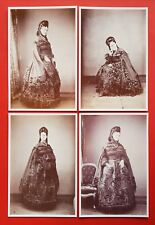 Set of 4 NEW Reproduction French Vintage Fashion Postcards, Lady in Dress G24
