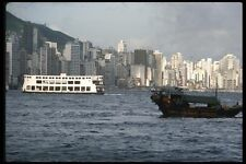 120070 A Hong Kong Kowloon Star Ferry In The Harbor A4 Photo Print