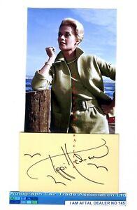 Tippi Hedren vintage signed postcard AFTAL#145