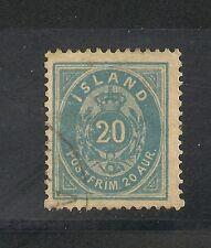 Iceland #17 VF Used - 1882 20a Blue - SCV $50.00