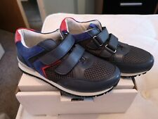 RR Boys  Trainers Navy Touch Strap Easy Fasten PE Sports Shoes NEW