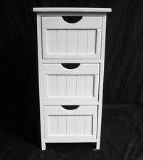 Assemble White Shabby Chic Chest of Drawer Bedroom Bedside Table Storage Cabinet