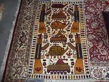 Handmade Afghan War rug, military  trible Wool war rug, 150 cm x 98 cm