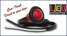 LED Autolamps Round Button Marker Lamp, 12/24v, Red