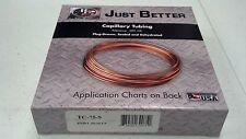 Capillary Tubing, Jb Industries, Copper, .075 Id x .125 Od x 9 Feet, #Tc-75-9