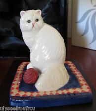 CHAT PERSAN CHINCHILLA EN PORCELAINE DE ROYAL DOULTON COFFRET NEUF + CERTIFICAT