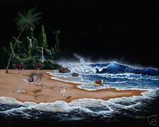 "*Michael Godard-""PARADISE""-Red Wine-Beach-Hawaii Island Art-Las Vegas Artist*"