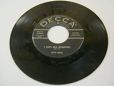 Kitty Wells I Can't Help Wondering/Jealousy 45 RPM Decca Records