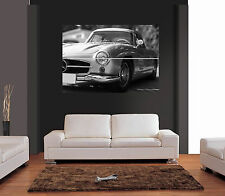 MERCEDES 300 SL CLASSIC CAR Giant Wall Art Print Picture Poster