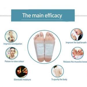 20PCS Ginger Detox Foot Pads Patch Healthy Pad Herbal TI Cleansing Detox E2B6