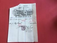 John Burt and Co Pleasance Leather Works 1883  Illustrated   receipt R33064