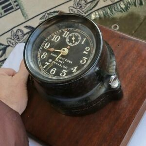 "RARE Vintage Mark I US Navy 1941 Ship's Boat Clock Wind Up Seth Thomas 5.5"" WWII"