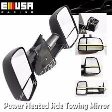 Pair Black Side View Mirrors Power Heated for 99-02 Silverado GMC Sierra 1500