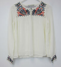 Abercombie & Fitch Embroidered and Embellished Top - XS - Off White - NWT