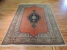 8x10  Tabriz Antique Oriental Persian Area Rug salmon color wool Spectacular!