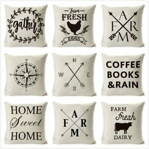Cushion Cover Thanks For Be My Sister Cotton Linen Square Throw Waist Pillow