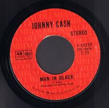 "JOHNNY CASH ‎– Man In Black (1971 US COUNTRY VINYL SINGLE 7"")"