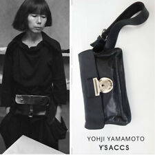 YOHJI YAMAMOTO Y'S BLACK LEATHER  WAIST BELT  BAG CLUTCH COMME DES GARCONS