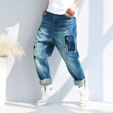 Distressed Regular Size Relaxed Jeans for Women