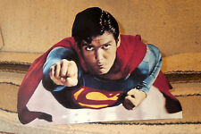 "Superman Christopher Reeve Flying Figure Tabletop Display Standee 10.5"" Long"