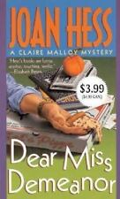 Dear Miss Demeanor (Claire Malloy Mysteries, No. 3)
