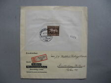 GERMANY REICH, R-cover 1936, S/S Das braune Band, spec. R-label München-Riem