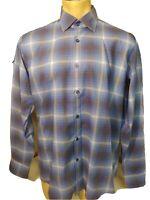 GF Ferre talian men/'s Polo Shirt long sleeve grey size L pit to pit 53cm