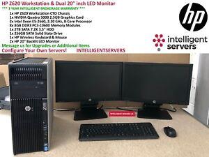 HP Z620 Workstation, 2x E5-2660 8-Core, 64GB, 2TB HDD, 256GB SSD, Quadro 5000