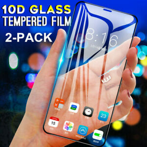 Full Cover Tempered Glass Screen HD Protector For iPhone 13 12 11 XS XR Pro MAX