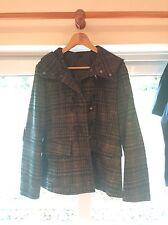Stile BENETTON Cappotto Invernale Stile Tweed Misura 14