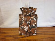 Lots of Foxes brown Cotton Fabric Handmade square Tissue Box Cover (Only)