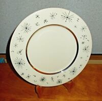 Fine Arts Romance of the Stars Dinner Plate Cream Atomic MCM EUC More Available