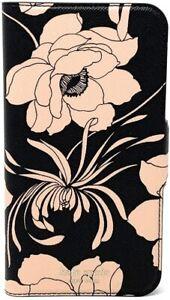 Kate Spade New York 256547 Leather Black Blush Gardenia iPhone X/XS Folio Case