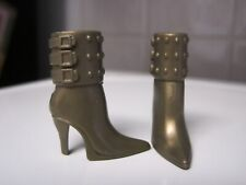 Barbie Doll Clothes/Shoes *Mattel Bronze High Heel Boots *Brand New* #674