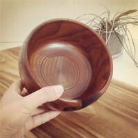 1pcs Wood Yarn Bowl Smooth Swirl Storage Bowl Crochet Organizer Gift for Knitter
