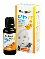 HEALTHAID BABYVIT VEGETARIAN 25ml -DROPS INFANTS TO 4 YEARS - ORANGE FLAVOUR