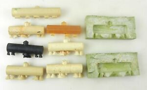 HOn3 Narrow Gauge - Lot of 7 FREIGHT TANK CARS w/ RUBBER MOLDS - LOOK ~ F12