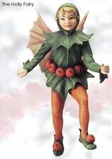 Retired Cicely Mary Barker HOLLY Flower Garden Fairy Ornament NIB!