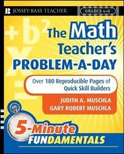 The Math Teacher's Problem-a-Day, Grades 4-8: Over 180 Reproducible Pages of Qui