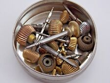 Vintage Lot of antique Pocket watch parts crowns and stems Gold Filled 16s 18s