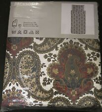 IKEA Backsota Paisley TWIN Duvet COVER Pillowcase Set BACKSÖTA Single Brown Blue