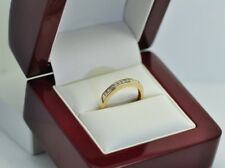 Genuine Solid 0.20ct Diamond Eternity Engagement Ring 9K gold