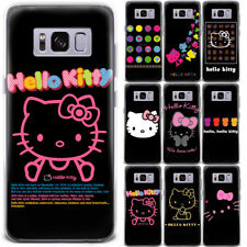 Cartoon Hello Kitty Anime Black Pattern Phone Case Cover For Samsung Series