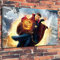 """Dr Strange Movie Wall Art Printed Canvas Picture A1.30""""x20"""" - 30mm Deep Frame"""
