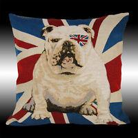 "COOL ENGLAND FLAG BULLDOG TAPESTRY DECO THROW PILLOW CASE CUSHION COVER 17"""