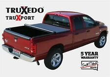 "TruXedo TruXport Soft Roll-Up Tonneau Cover Fits Titan 5'7"" Bed w/ Cargo Rail"