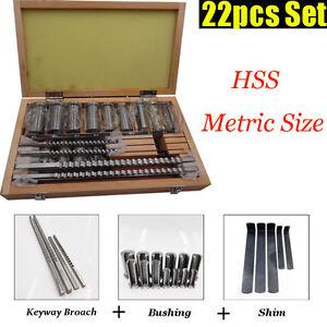 30pc 22pc 18pc 6pc Keyway Broach Kit Broaching Cutter HSS CNC Metalworking Tool